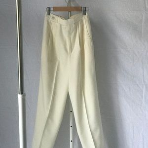 Vintage High Waisted Pleated Trousers
